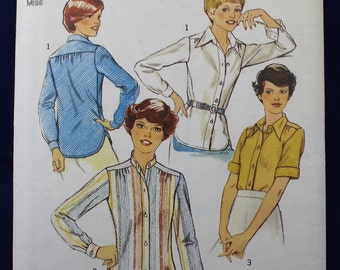 Woman's Shirt Sewing Pattern in Size 14 - Style 1984
