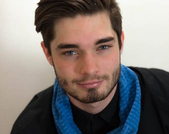 Men's Wear, Men's Fashion, Men's Cowl, Men's Snood, Men's Accessories, Blue Cowl, Cowl, Snood, Designer Cowl, Knitted Snood, 374