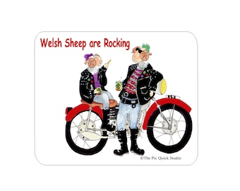 Welsh Sheep are Rocking Mouse Mat Mouse Pad