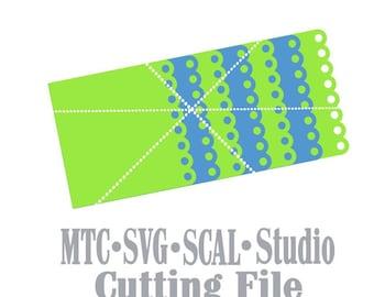 SVG Cut File Mini Album #07 Scrapbook Shape Book Cutting File MTC SCAL Cricut Silhouette Cutting File