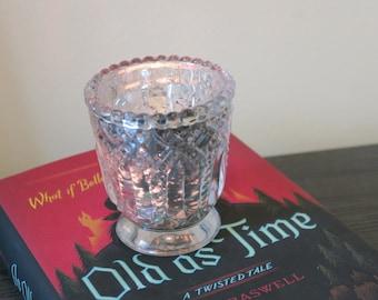 Vintage Glass Candle Holder/Bud Vase