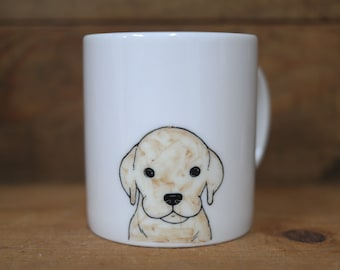 Hand painted animal mug cup - Cute mug cup - Golden Retriever dog mug cup