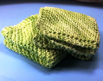 Hand Knitted 100 % Cotton Wash Cloths
