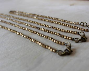 BRONCE Beaded Bronze Necklace