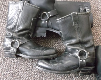 Men's Chippewa WELL WORN Harness Boots Engineer Boots Motorcycle Boots Biker Boots TRASHED