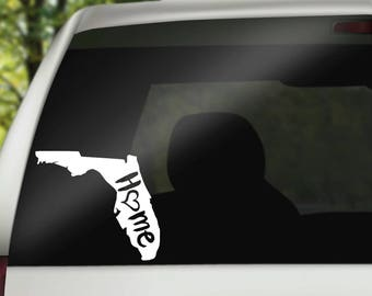 Florida Decal, State Decal, Home Decal, State Car Decal, Laptop Decal, Tumbler Decal, Home Car Decal, Vinyl Decal, Water Bottle Decal
