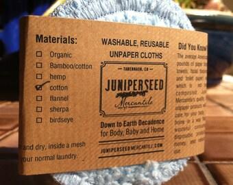 Lavables et réutilisables pour le visage Poufs - tours de Chenille de coton bleu