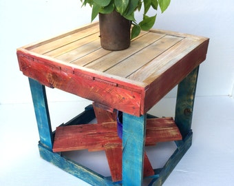 Rustic Patriotic Side Table