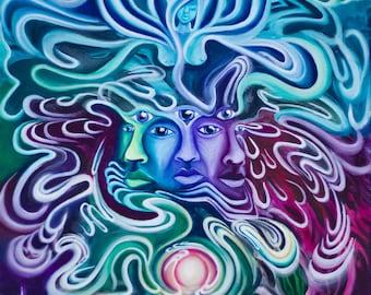 The Awakening to the Higher Self - Part 3 of The Awakening Series - Fine Art Print by EmJae Lightningbug