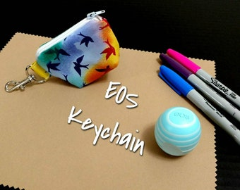 EOS Lip Balm Keychain Sparrows Birds