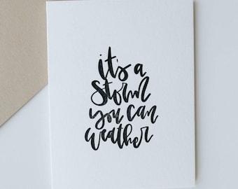a storm-- letterpress greeting card