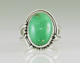 Variscite Hand Crafted Sterling Silver Ring