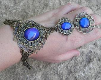 Bronze and blue slave bracelet
