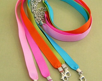 Ribbon Necklaces available in Pinks and orange only