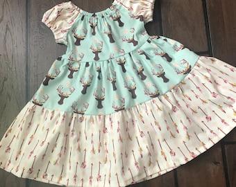 Deer and Arrow Girls Dress