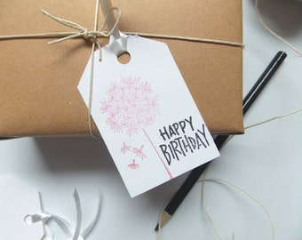 Birthday Gift Tags -Happy Birthday Gift Tags -Birthday Gift -Favor Tags -Tags for Handmade -Birthday Gift Tags -Packaging Tags -Cute Tags