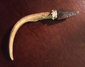 8 inch antler/arrowhead athame