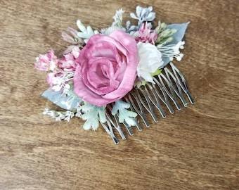 Bridal Hair combs, Hair comb, Ready to ship, Dried hair comb, Flower hair piece,  dried flower comb, Wedding Hair Accessories, dried Flowers