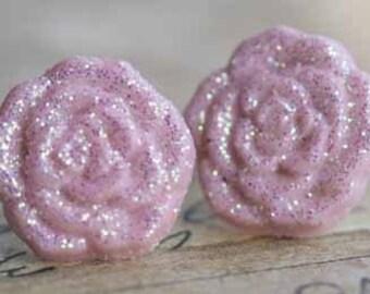 Dewy Roses Stud Post Earrings
