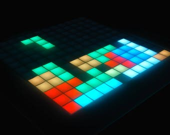Tetris Led Table with Gamepad, Arduino Electronics, Retro Game Console, Snake Game, Gaming Table, LED Gadget
