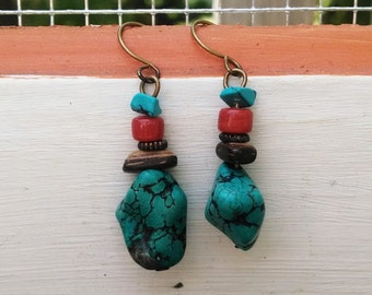 Transitions : Turquoise earrings