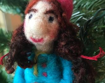 Gnome Girl Christmas Ornament