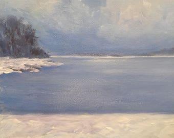 Michigan Winter- Acrylic Painting