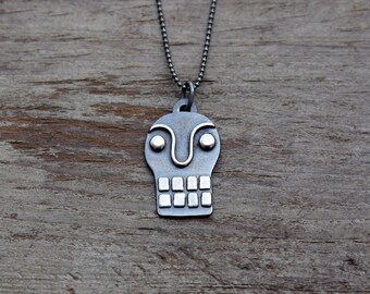 Silver Calavera pendant #7