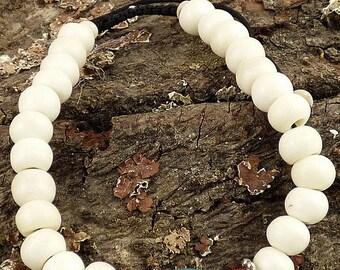 YAK bone MALA Buddhist bracelet prayer meditation Rosary prostration bm33