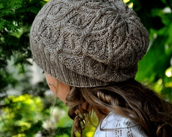 Fanciful Flower Hat Knitting Project Kit - Contains: PDF Pattern and One Skein of Altair Yarn in Colorway of Choice