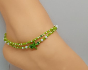 Sea Green Starfish Anklet