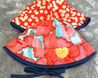 Poppies are Popping Sunhat, baby sunhat, girls sun hat, toddler summer hat, girls summer hat, baby sun hat, summer hat, bucket hat, baby sun