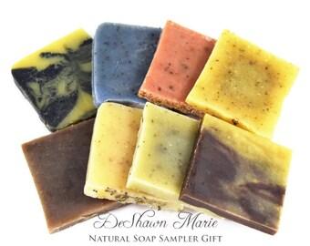 Natural soap gift set, vegan soap samples, organic soap sampler, cold process soap, Christmas soap gift, All natural soap