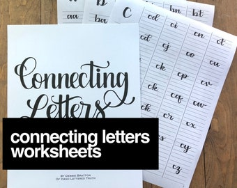 Connecting Letters Worksheets