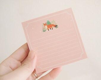 Red Fox Memopad / 100 sheets / Red Fox Notepad / To Do List / Shopping List / 101012984