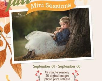 FALL MINI SESSION Marketing Board 5x5 (Photoshop) files.