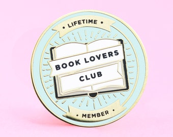 Book Lovers Club Pin | Book pin, readers pin