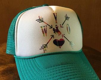Wyo Love Trucker Hats