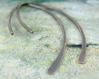 Simple silver earrings, minimalist, small sterling Zen Hoops.