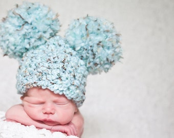 11 Colors Baby Hat Newborn Hat Baby Girl Hat Baby Boy Hat Pom Pom Hat Mouse Ear Animal Ear Hat Fun Photo Prop Newborn Photography Prop