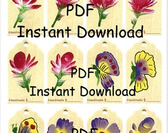 Hang Tags for Craft Shows, Instant Download Two Sizes, PDF