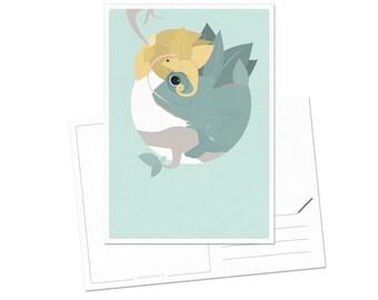 Postcard - Chameleon   children - nursery   A6 - 5.8 x 4.1 inches