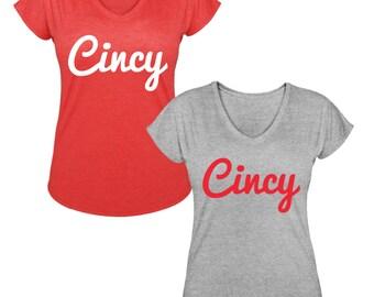 Cincinnati Reds Cincy V Neck Tee