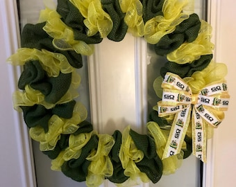 University of Oregon Ducks wreath