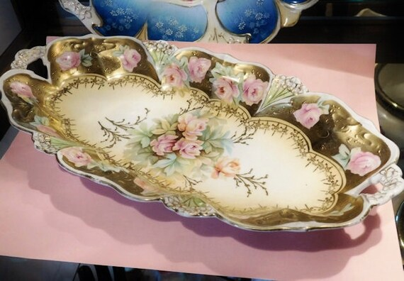 "RS Prussia Porcelain Celery Dish / Relish 12"""
