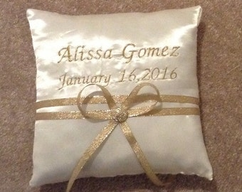 custom made your choice any color satin quinceanera sweet 16 pillow with name