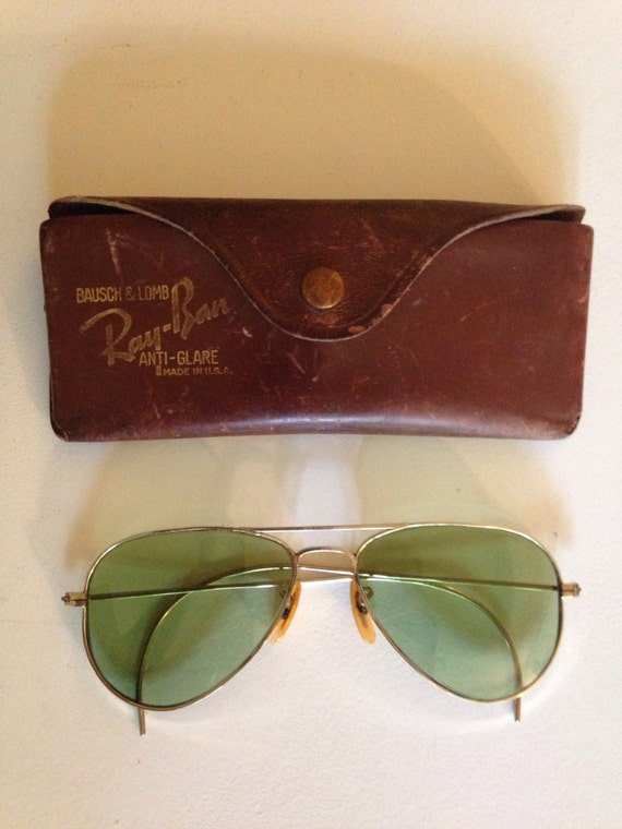 Ca 1940 Anti-Glare Ray-Ban Bausch & Lomb sunglasses 10K Gold Plated