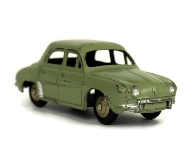 Vintage French Renault Dauphine 24E Dinky Toy Car. Miniature Iconic Car.