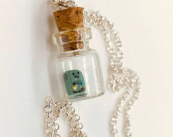 Adventure Time BMO Beemo Bottle Charm Necklace