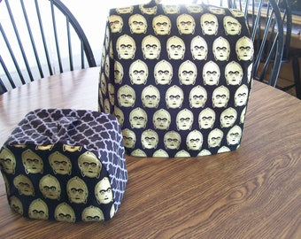 Kitchen Aid mixer cover, Reversible /Quilted Mixer Cover for a 5 Quart Kitchen Aid Mixer/  star wars/c3po/dark side